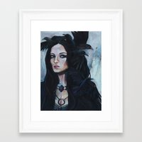 sansa Framed Art Prints featuring Queen of Crows by Asquared2Art