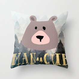Man Cub Nursery Print Throw Pillow