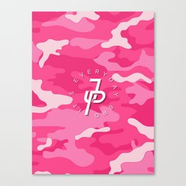Jake Paul Pink Camo Canvas Print