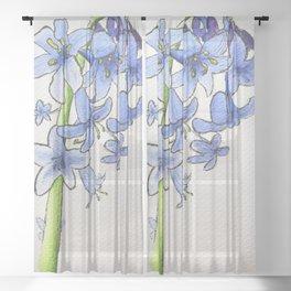 blooming bluebells Sheer Curtain