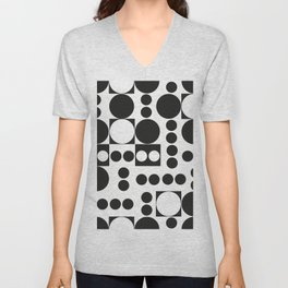 Exaggerated Dots and Circle Unisex V-Neck