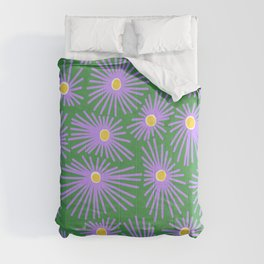 New England Asters Comforters