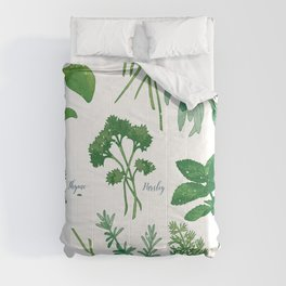 Kitchen Herbs Comforters