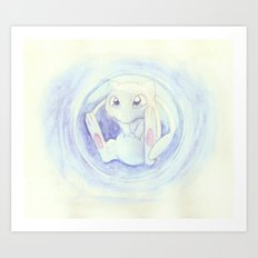 Watercolor Mew Art Print