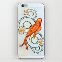 koi fish iPhone & iPod Skins featuring Koi Fish by Eleni Kakoullis