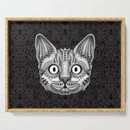Egypt cat aztec pattern Serving Tray