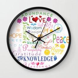 Inspirational Words Wall Clock