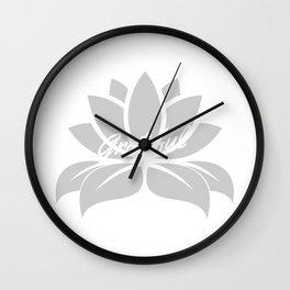 Grateful Lotus Wall Clock