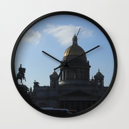 St. Isaac's Square. Saint Isaac's Cathedral. Wall Clock
