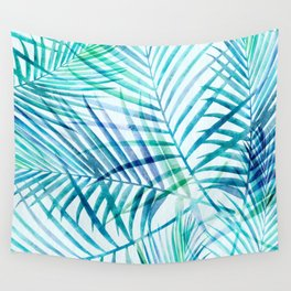 Tropical Palm Pattern Wall Tapestry