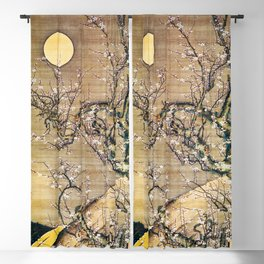 Moonlit Night And White Plum - Digital Remastered Edition Blackout Curtain