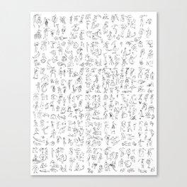 Esserini Schizzati Canvas Print
