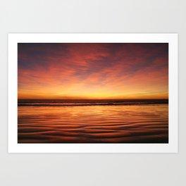 Broome Sunset, Australia Art Print