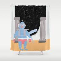 constellation Shower Curtains featuring Constellation by Elena Éper