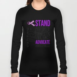 Take A Stand Against Domestic Violence. Advocate Awareness Long Sleeve T-shirt