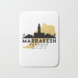 MARRAKESH MOROCCO SILHOUETTE SKYLINE MAP ART Bath Mat