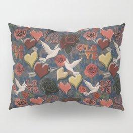 LOVE Vintage Pattern Pillow Sham