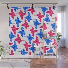 Hummingbird Pattern Wall Mural