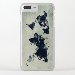 map world map 60 Clear iPhone Case