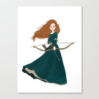 merida Canvas Prints featuring Merida by Jenna Paddey