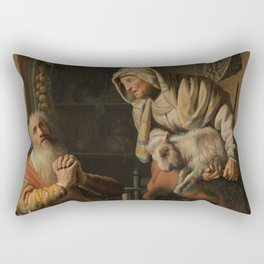 Tobit and Anna with the Kid Goat Rectangular Pillow