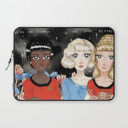 Where No Woman Has Gone Before Laptop Sleeve