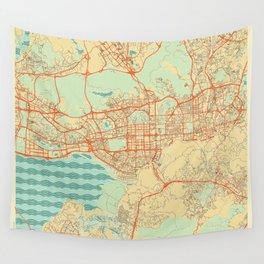 Shenzhen Map Retro Wall Tapestry