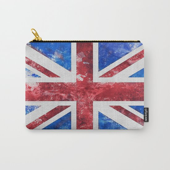 Union Jack Great Britain Flag Grunge Carry-All Pouch