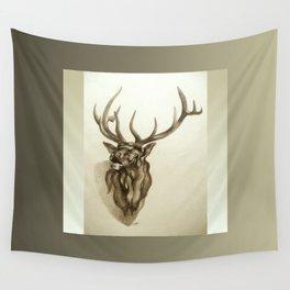 Elk Portrait - In the Roar Wall Tapestry