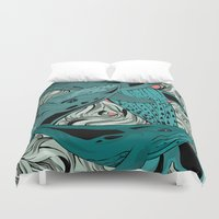 whales Duvet Covers featuring Whales by melcsee