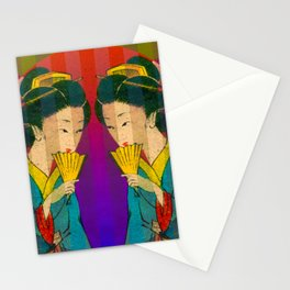 2 Geishas Stationery Cards