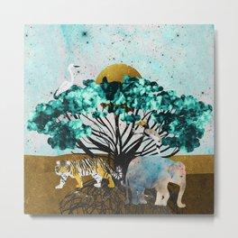 Jungle Safari Dreams Metal Print