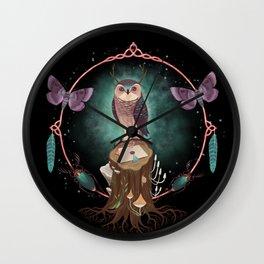 Enchanted Woodland Secret Keeper And Dream Catcher Wall Clock