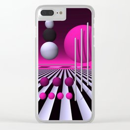 go pink -3- Clear iPhone Case