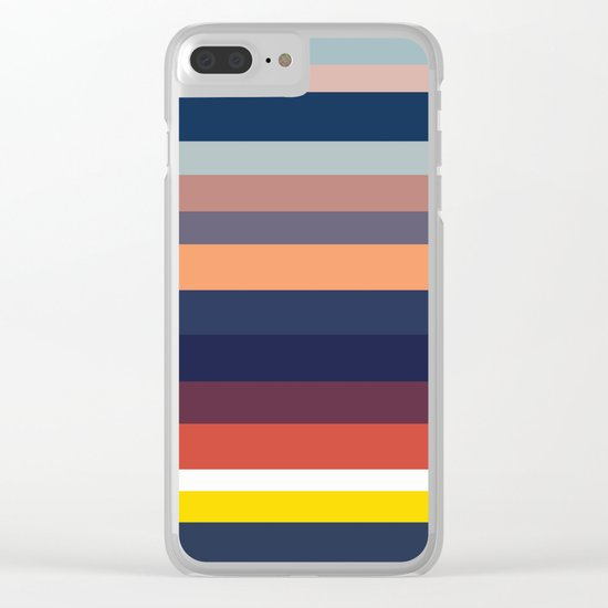 Ocean Sunset #1 Clear iPhone Case