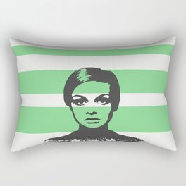 60s fashion model Rectangular Pillow