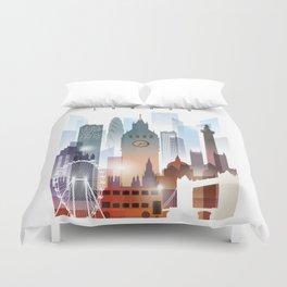 London city skyline, United Kingdom Duvet Cover