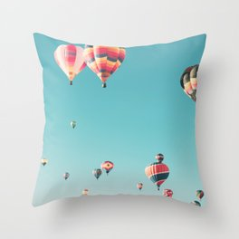 Hot Air Balloon Ride Throw Pillow