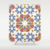 morocco Shower Curtains featuring Morocco by Vicky Webb