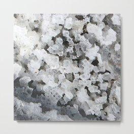 Watercolor Ice 15, Evaporite Crystals Metal Print