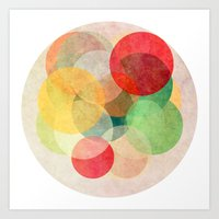 georgiana paraschiv Art Prints featuring The Round Ones by Anai Greog