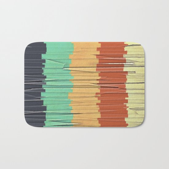 Shreds of Color Bath Mat