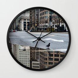 Downtown Detroit Capital Park City Scene Photography Wall Clock