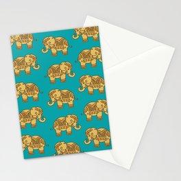 Elephant Pattern Stationery Cards