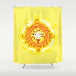 Abstract Sun G218 Shower Curtain