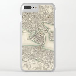 Vintage Map of Stockholm Sweden (1838) Clear iPhone Case