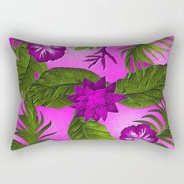 Tropical in Purple Rectangular Pillow