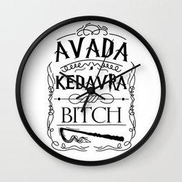 Avada Kedavra Bi*ch Wall Clock