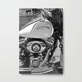Police Bike Metal Print