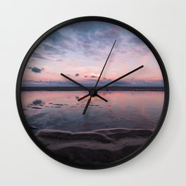 A Sunsets Reflection Wall Clock